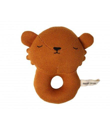 Hochet Lion en coton biologique
