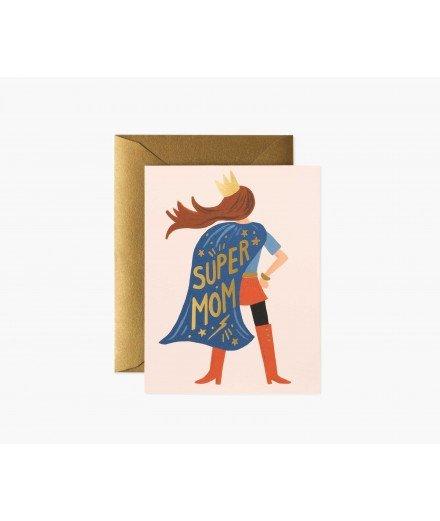 Carte double Super Mom