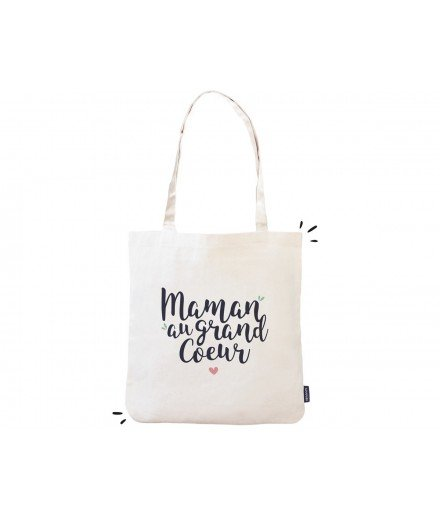 "Tote bag ""Maman au grand coeur"""