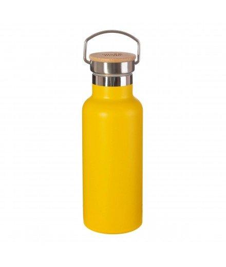 Gourde isotherme en inox - Moutarde