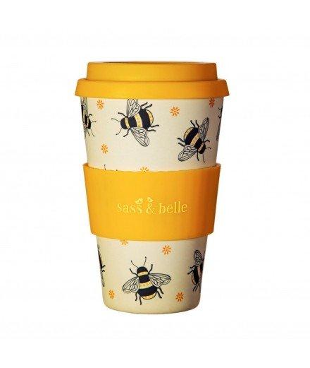 Mug de transport en bambou - abeille