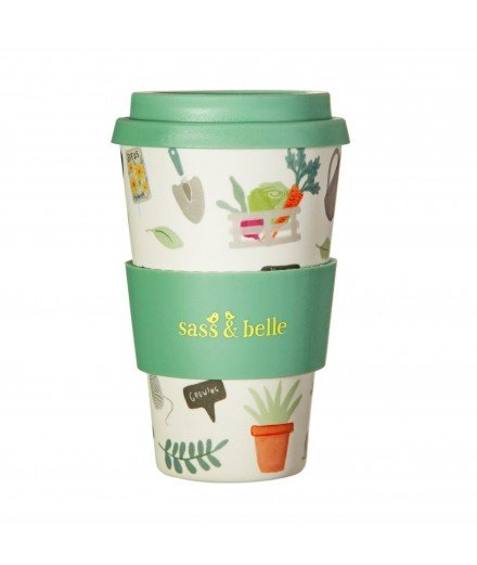 Mug de transport en bambou - jardinage
