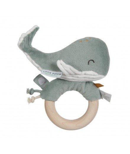 Hochet Baleine - Menthe