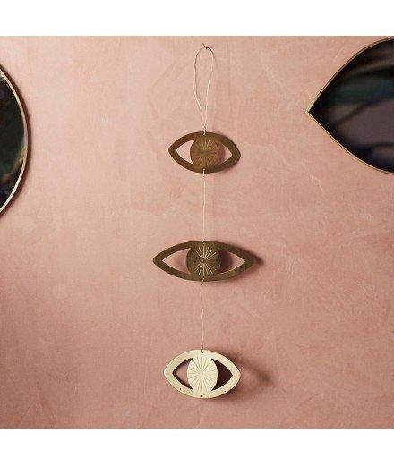 Suspensions en laiton - 3 yeux