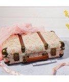 Grande valise vintage motif floral