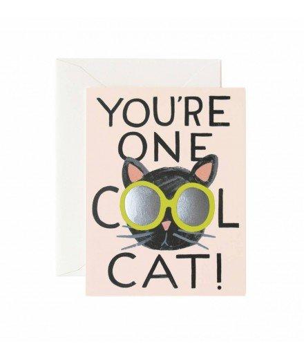 Carte double Cool Cat