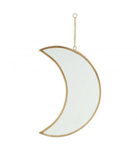 Miroir en laiton Lune
