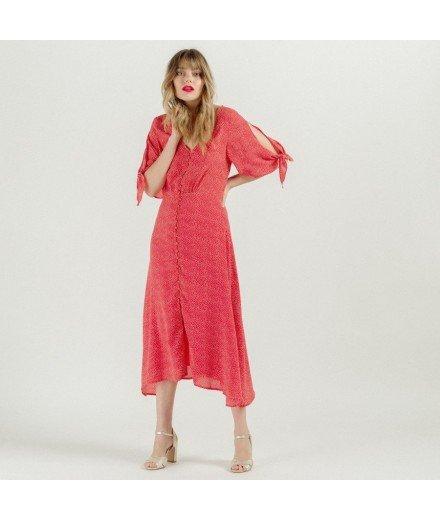 Robe mi-longue rouge - Jade