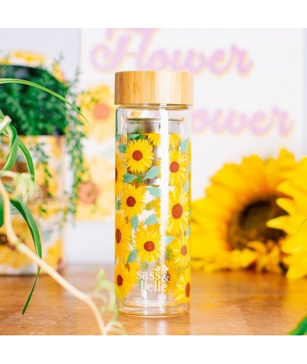 Bouteille infuseur - Tournesols