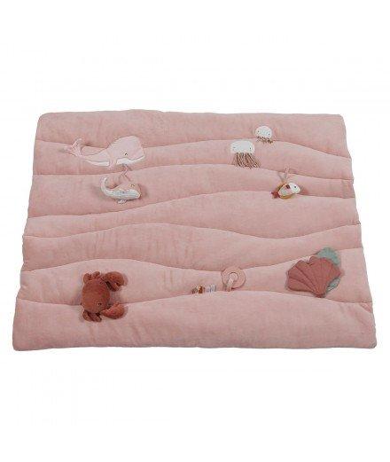 Tapis d'éveil en coton biologique Océan - Rose