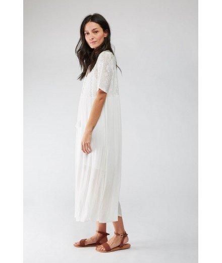Robe longue Orville - Blanc