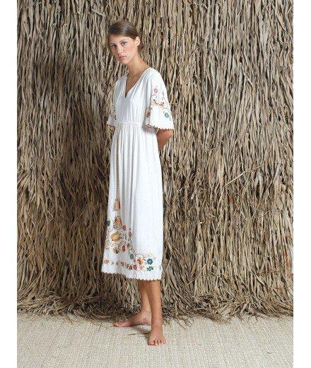 Robe longue avec Broderies Folk - Sophia