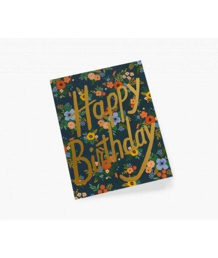 Carte d'anniversaire Garden - Happy Birthday