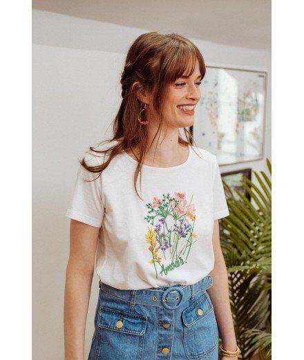 T-shirt en coton biologique Garancia - Ecru