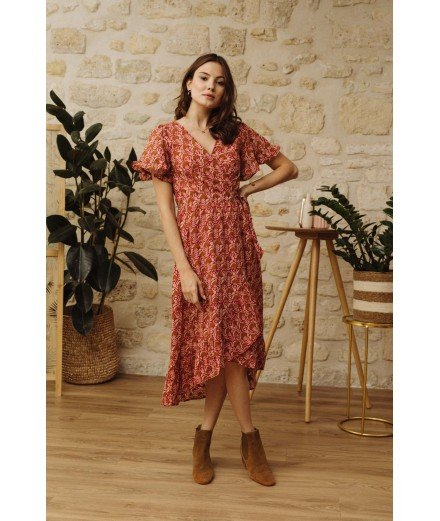 Robe Fidelia - Terracotta