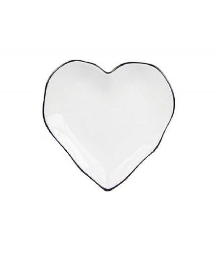 Coupelle coeur - Liseré noir