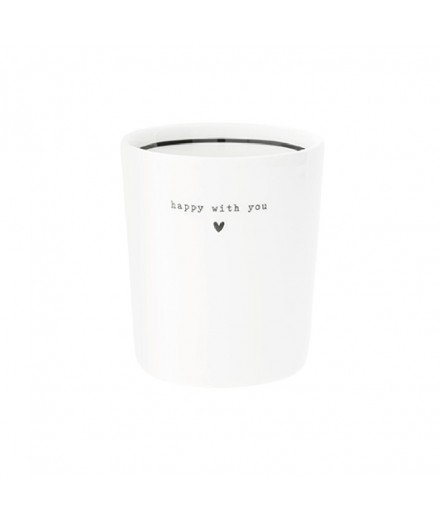 Tasse Happy with you - Petit coeur