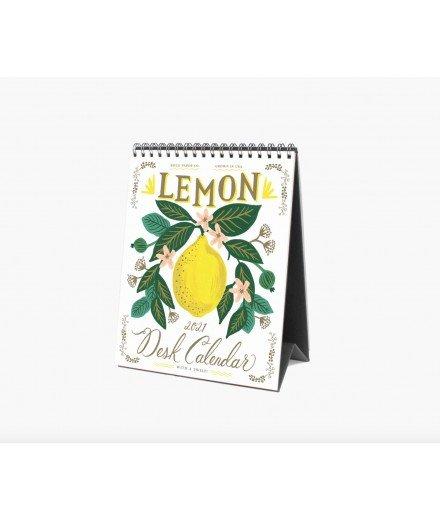 Calendrier de bureau 2021 - Lemon