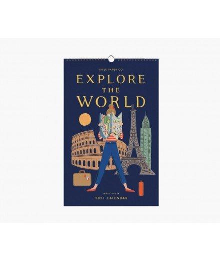 Calendrier mural 2021 - Explore the world