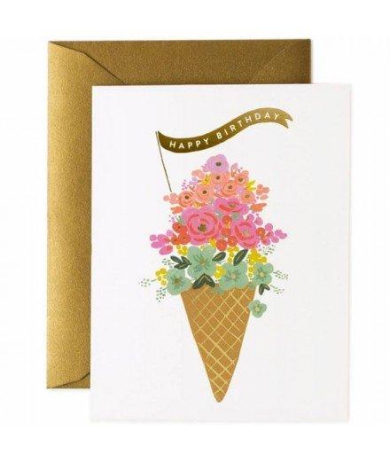 Carte d'anniversaire Ice Cream - Happy Birthday