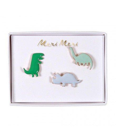 Set de 3 pin's émaillés - Dinosaures