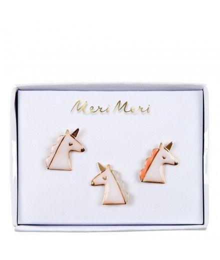 Set de 3 pin's émaillés - Licornes
