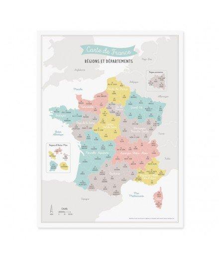 Affiche ma jolie carte de France