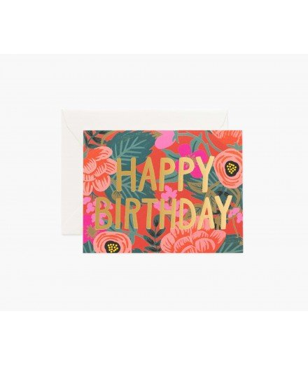 Carte d'anniversaire Poppy - Happy Birthday
