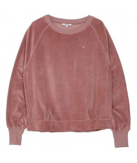 Sweat-shirt velours - Raisin