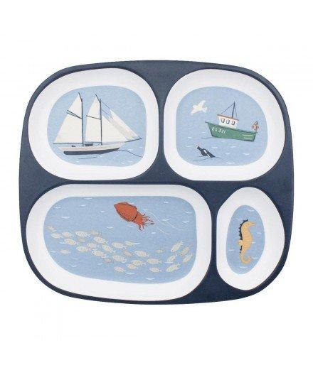 Assiette compartimentée en melamine - Navigation