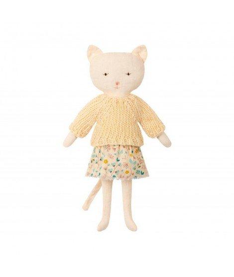 Poupée chat en robe fleurie Maileg