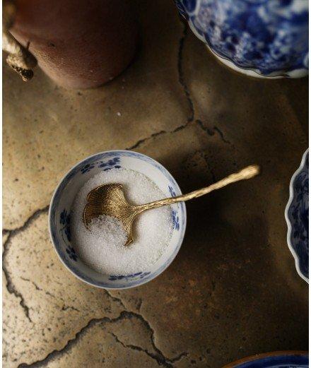Petite cuillère en laiton - Gingko