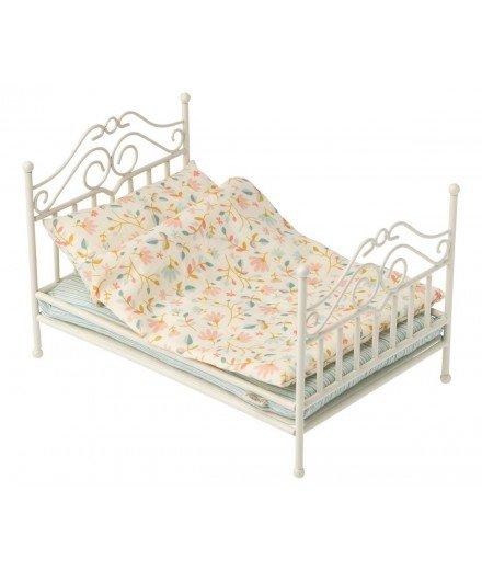 Petit lit en métal vintage Maileg - Fleurs