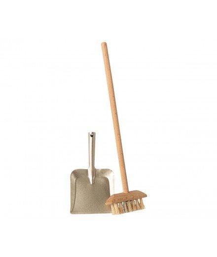 ❤ PRE-COMMANDE Maileg ❤ // Balai brosse et sa pelle en métal