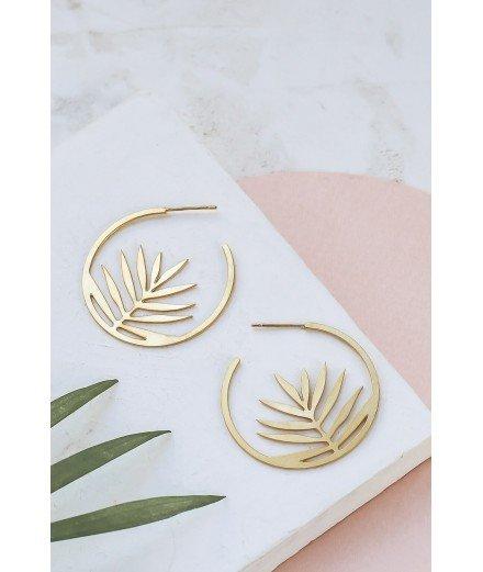 Boucles d'oreilles Palm Hoop