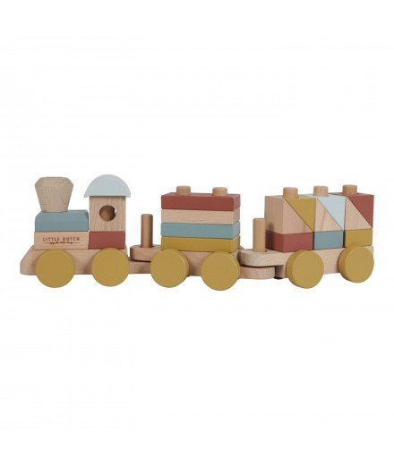 Trains à blocs en bois - Pure et Nature