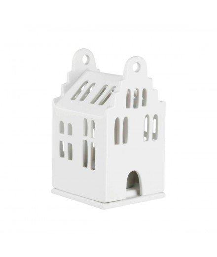 Photophore en céramique - Mini maison à pignon