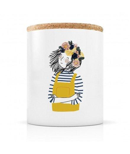 Bougie en Céramique - Femme salopette