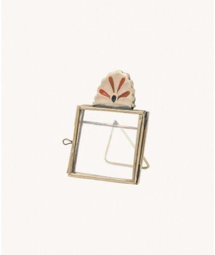 Mini cadre en laiton Rosie - Pêche