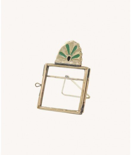 Mini cadre photo en laiton Rosie - Vert