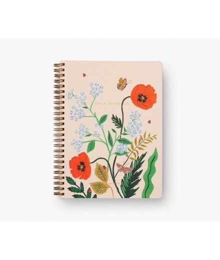 Cahier à spirales Coquelicot - Poppy Botanical