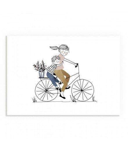Affiche Balade à vélo Garçon - Format A4