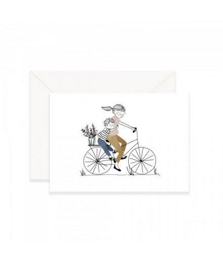 Carte postale Balade à vélo - Garçon