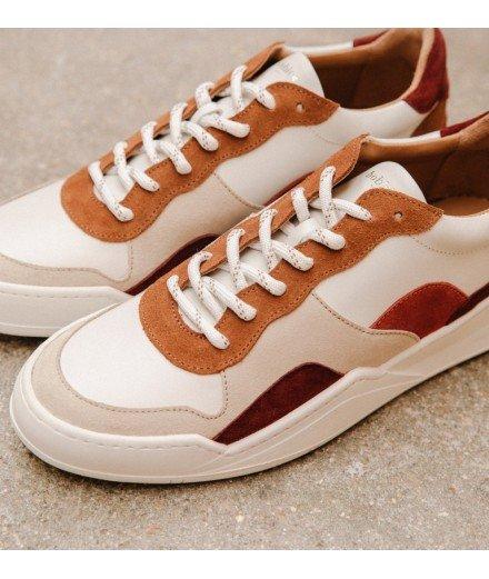 Sneakers La Long Beach - Blanc cassé, Or sablé (mymy)