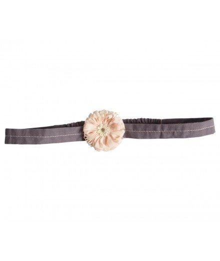 Headband pour enfant Grande fleur - Rose (à faire)
