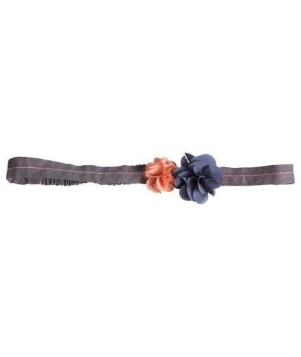 Headband pour enfant Petites fleurs - Rose et bleu