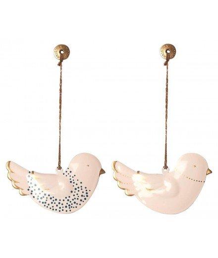 Set de décorations de Noël en métal - Oiseaux