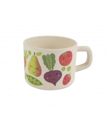 Mug pour enfant en bambou - fruits et légumes (malo)