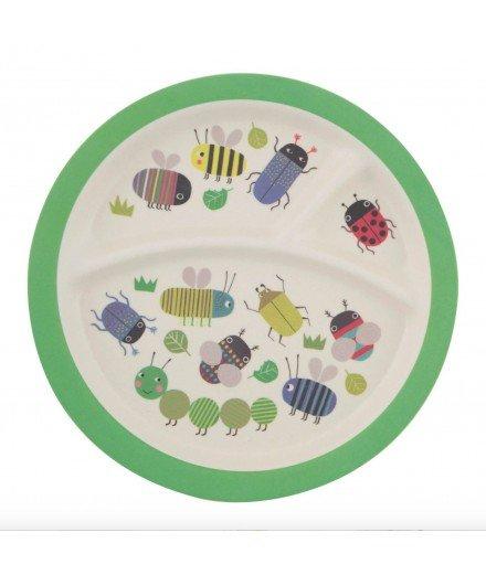 Assiette compartimentée en bambou - Insectes (LM)