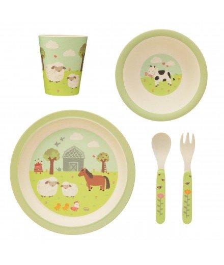 Set de vaisselle en bambou - Ferme (LM)